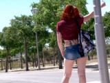 Vidéo porno mobile : He fucks a pretty hitchhiker in the woods